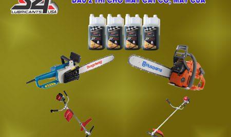 Nhớt 2 thì, dầu nhớt 2 thì cho máy cắt cỏ, máy cưa xăng và ca nô.