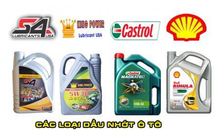 Các loại dầu nhớt xe ô tô, tìm hiểu về dầu nhớt ô tô