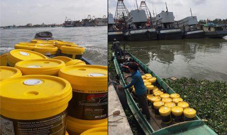 Dầu nhớt hàng hải nhập khẩu, dầu máy cho động cơ tàu thuyền
