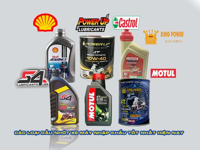Dầu nhớt xe ga nhập khẩu- các loại dầu nhớt xe ga tốt nhất hiện nay